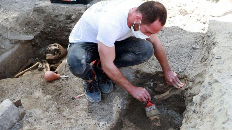 Aydın'da insan iskeletleri bulundu