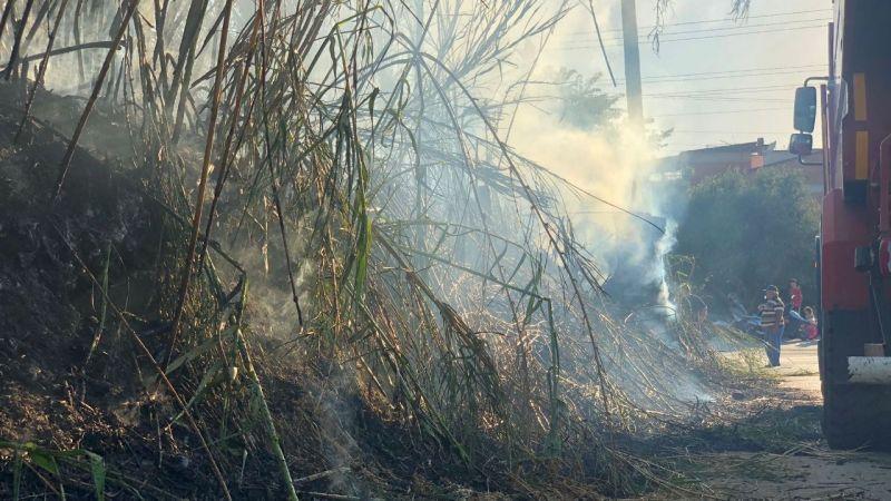 Nazilli'de elektrik telleri yangın çıkardı