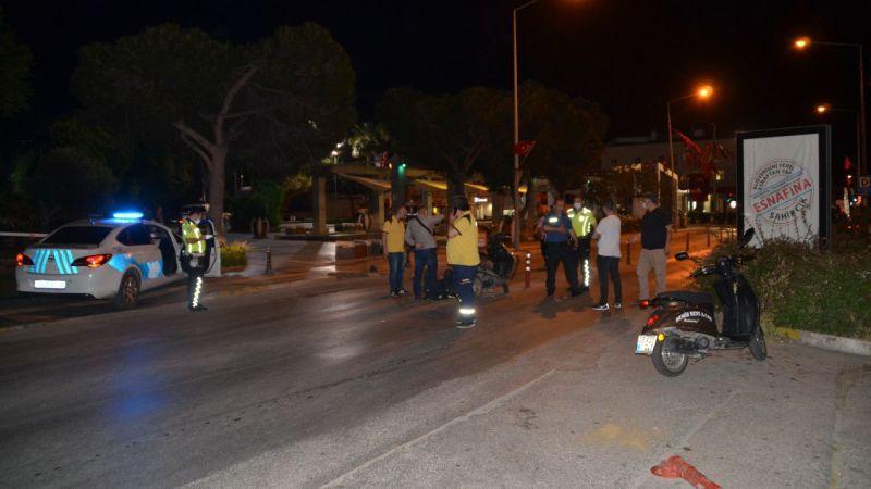 Söke'de otomobille çarpışan motosikletin sürücüsü, yaralandı