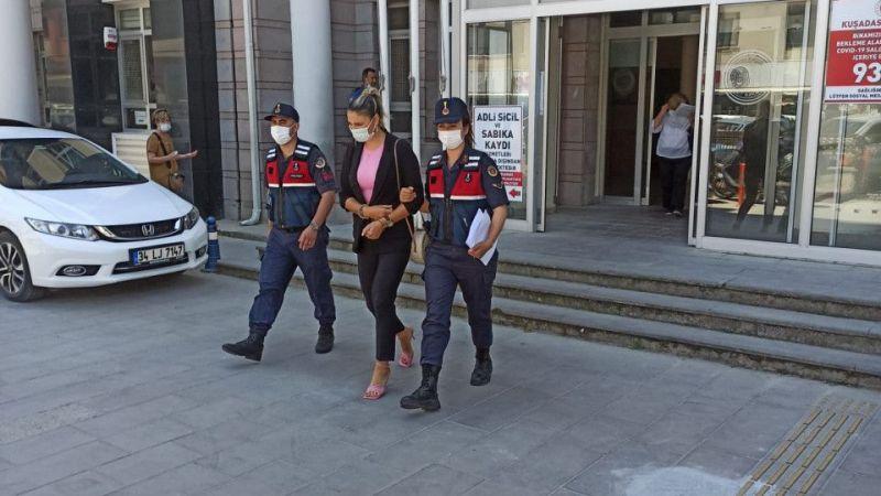 Uyuşturucu satıcısı kadın Aydın'da JASAT'a teslim oldu