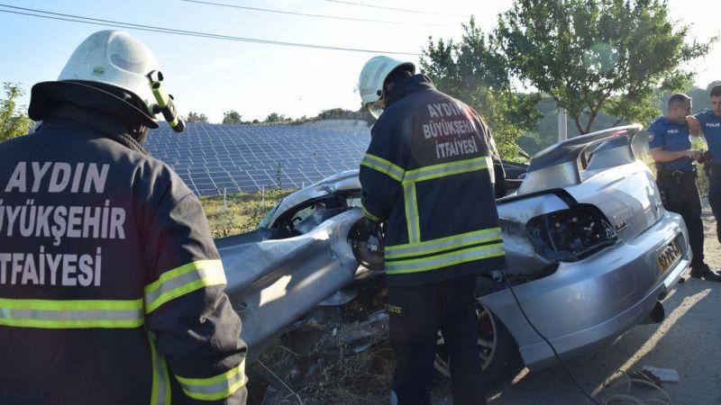 Aydın'da kaza: 1 ölü, 1 yaralı