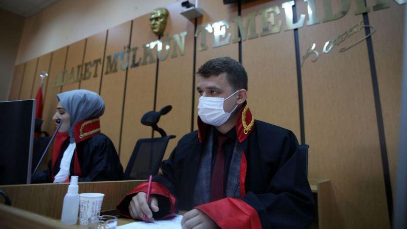 """Aydın'da hakim ve savcı adayları """"kurgusal duruşma"""" yaptı"""