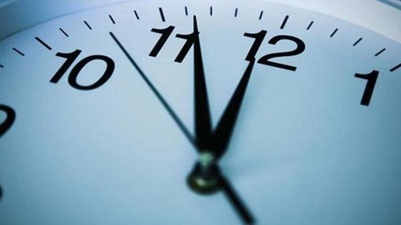 Dikkat! Saatler yeniden düzenlendi