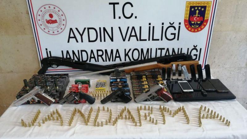 Aydın'da silah kaçakçılığı