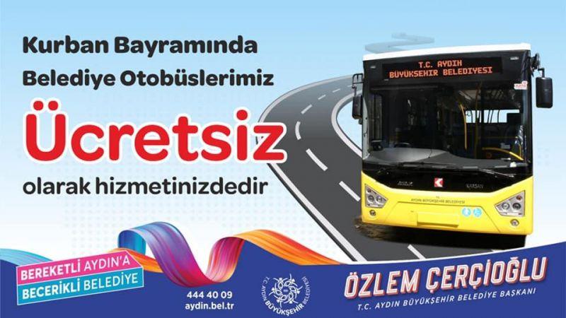 Aydın'da otobüsler ücretsiz