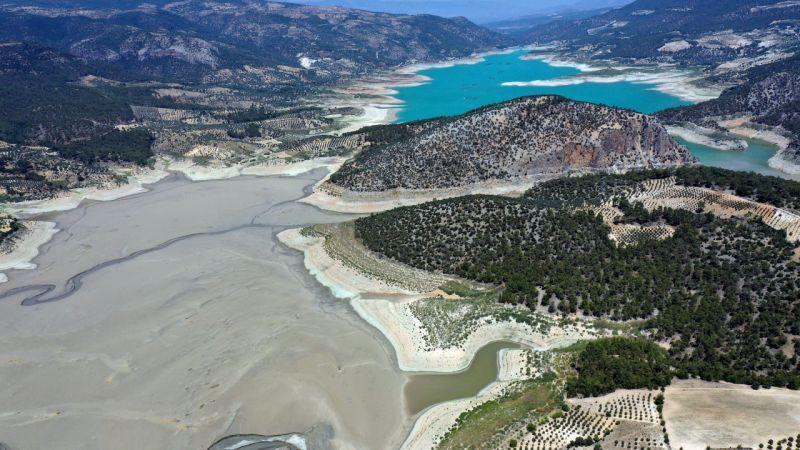 Aydın'daki Arapapıştı Kanyonundaki sular çekildi