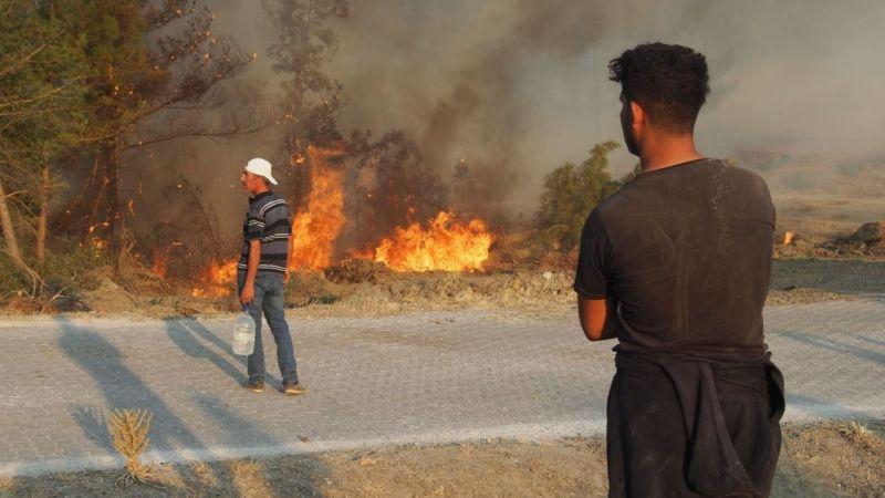 Bozdoğan'da yangın büyüdü! 3 köy boşaltıldı