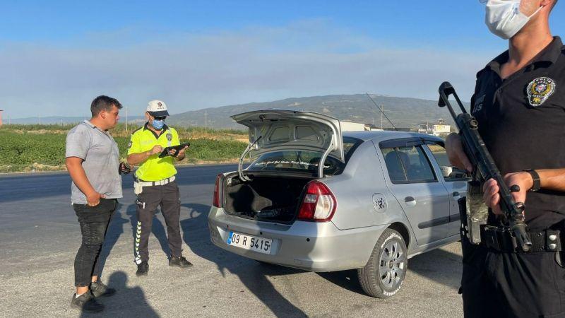 Aydın'ın dağları yanıyor, Emniyet ağır silahlı personelle yolları çevirdi