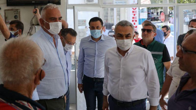 Bakan Ersoy, Aydın'da yangın bölgesini inceledi