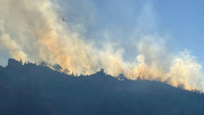 Bozdoğan'da yangın yeniden başladı