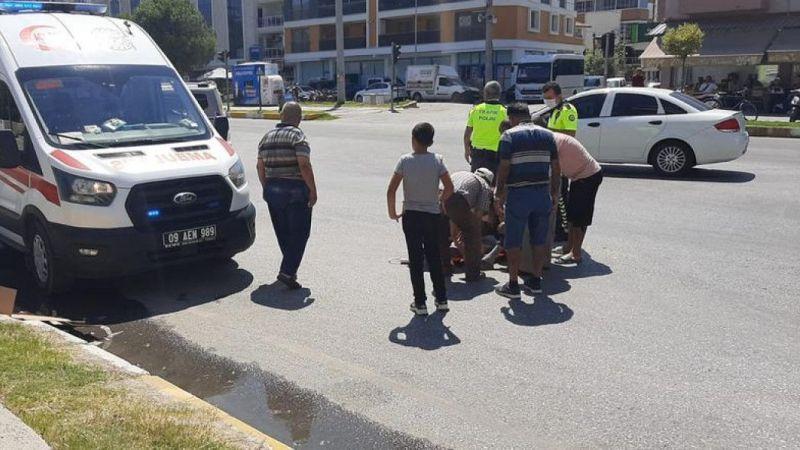 Aydın'da motosiklet devrildi: 2 yaralı