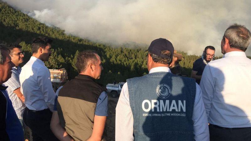 Köyceğiz'de başlayan orman yangını, Denizli sınırına yaklaştı