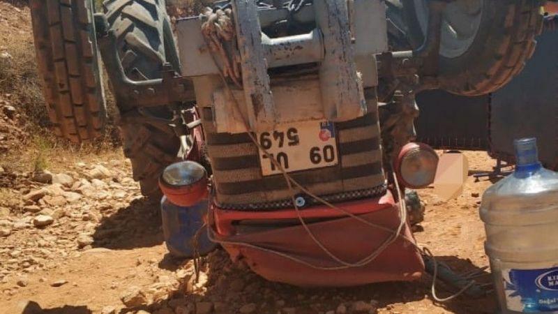 Aydın'da devrilen traktörün sürücüsü öldü
