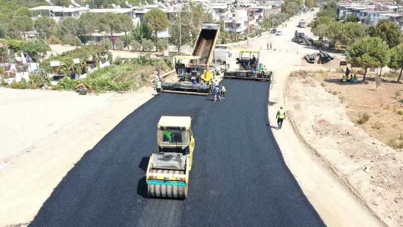 Büyükşehirin yol yapım çalışmaları tüm hızıyla sürüyor
