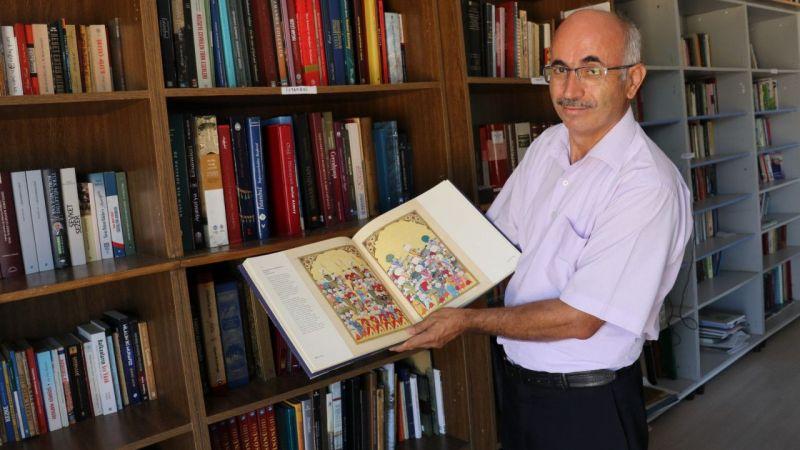 Denizlili gazeteci 40 yıllık kütüphane hayalini köyünde gerçekleştirdi