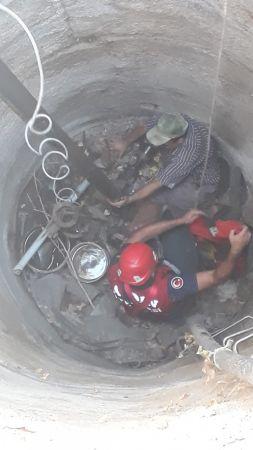 Aydın'da bir kişi su kuyusuna düştü
