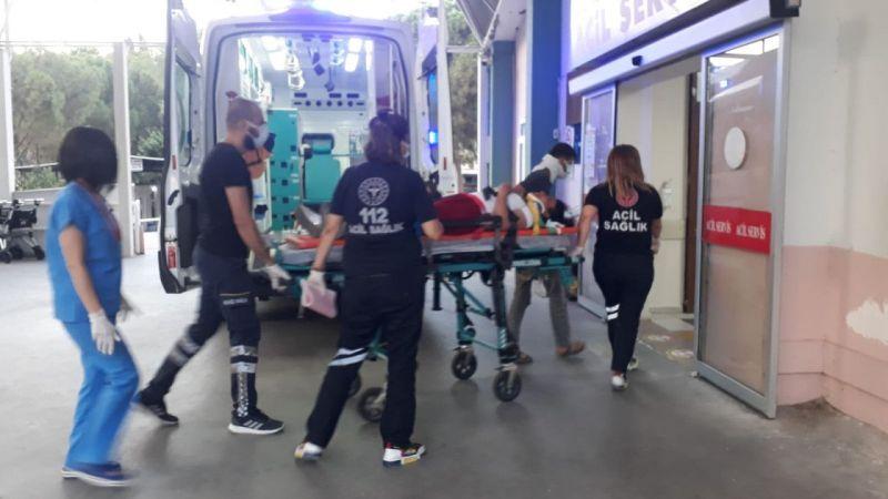 Aydın'da kamyonet bariyere çarptı: 2 yaralı