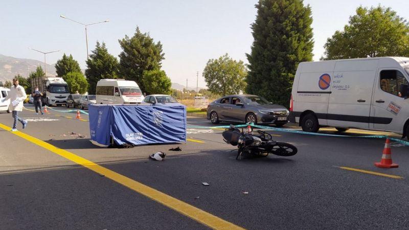 Aydın'da otobüsle çarpışan motosikletin sürücüsü öldü