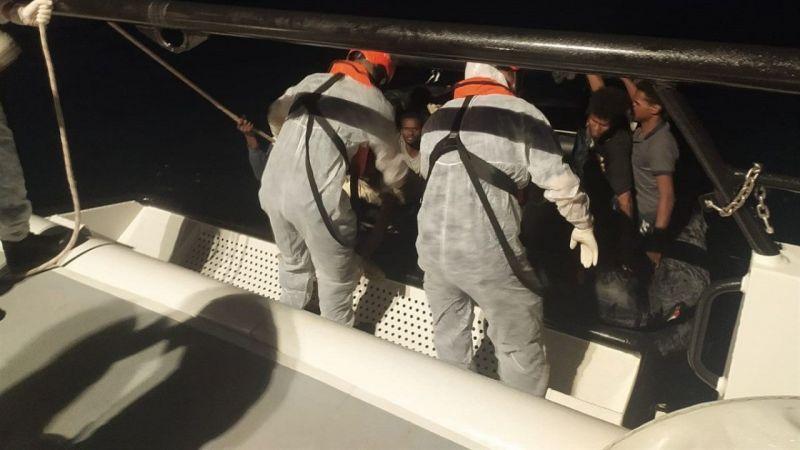 Aydın'da Türk kara sularına geri itilen 158 kişi kurtarıldı