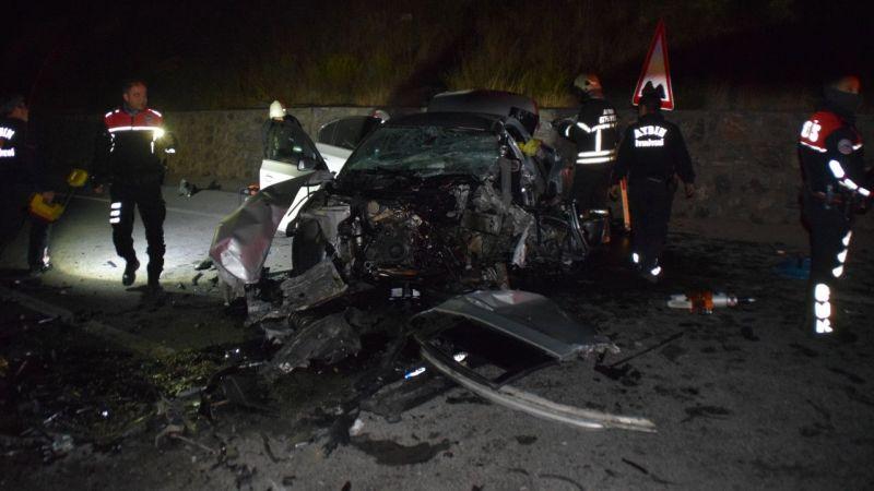 Aydın'da kaza:1 ölü 1 yaralı