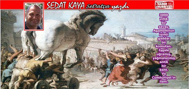 3000 yıllık bir savaş. Agamemnon isimli gaddar bir komutan. İşgale uğramış, yağmalanmış antik bir kent. Ve Cumhuriyet'in ilanı.