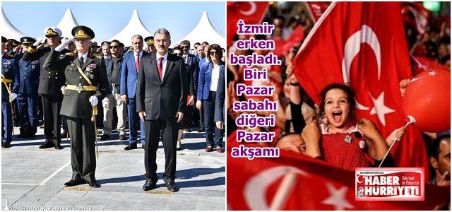 İzmir Cumhuriyet kutlamalarına bir gün önceden başladı.