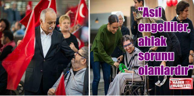 Bayraklı'da yaşayan her bir engelli ile el ele vererek örnek işlere imza attıklarını söyleyen ve çalışmalarını anlatan Belediye Başkanı Hasan Karabağ; engelli tanımına yeni bir bakış açısı getirdi.
