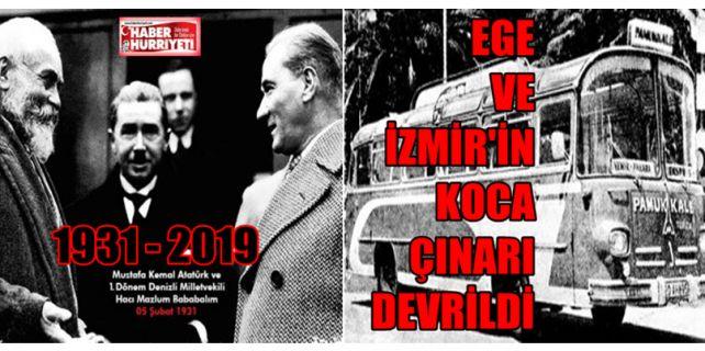 1931 yılında Atatürk'e açılan bir fikir ile tohumu atılan, 1962'de vücut bulan günümüzün Ege-İzmir patentli markası dev çınar için bugün iflas kararı verildi.