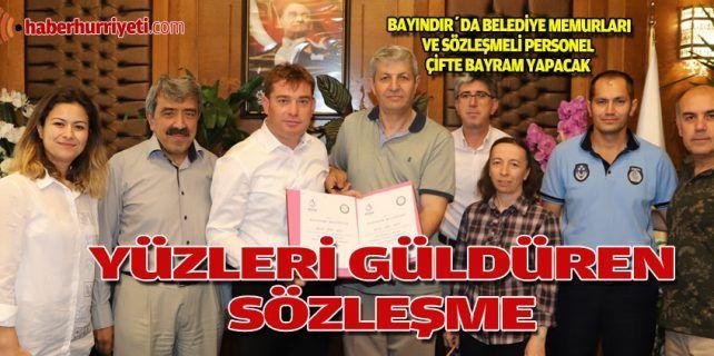 Bayındır Belediyesi, memurlara sosyal denge sözleşmesi imzaladı