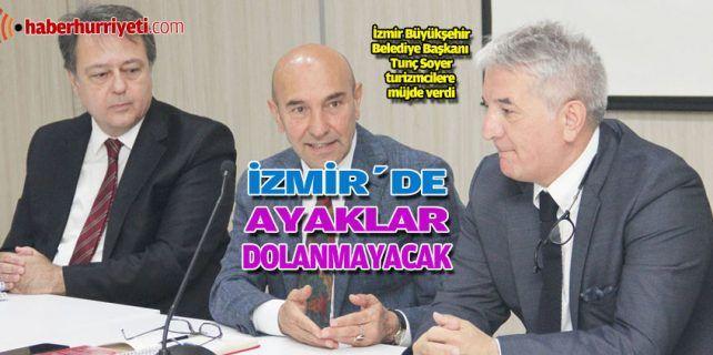 TÜROFED Başkan Yardımcısı ve ETİK Başkanı Mehmet İşler, İzmir Büyükşehir Belediye Başkanı Tunç Soyer'e Egeli turizmcilerin istek, görüş ve önerilerini aktardı. İşler, turizm sektörüne katkıları ve yaklaşımı nedeniyle Soyer'e teşekkür ederek ebru sanatı uy