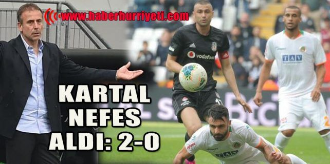 """Beşiktaş, Aytemiz Alanyaspor""""u 2-0 yendi."""
