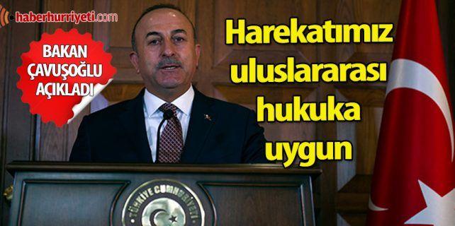 Bakan Mevlüt Çavuşoğlu'ndan, Barış Dalı Harekatı açıklaması