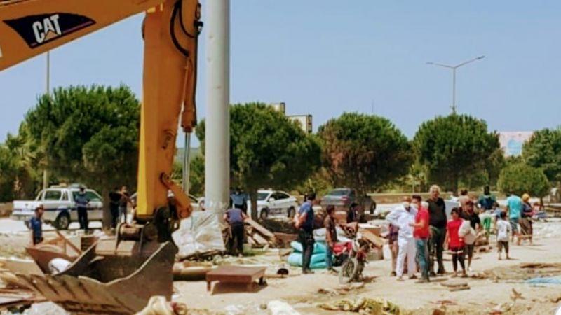 Çeşme'de Roman yurttaşların çadırlarının yıkılmasına tepki