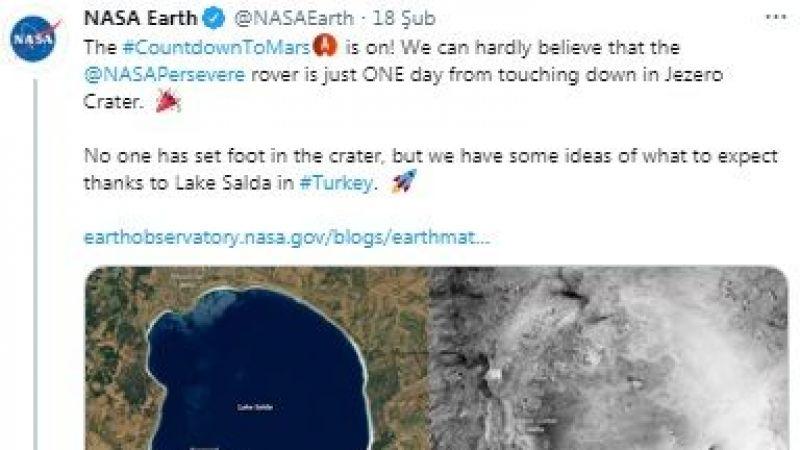 Salda Gölü için Nasa paylaşımına Bakan Kurum'dan tweet'le cevap