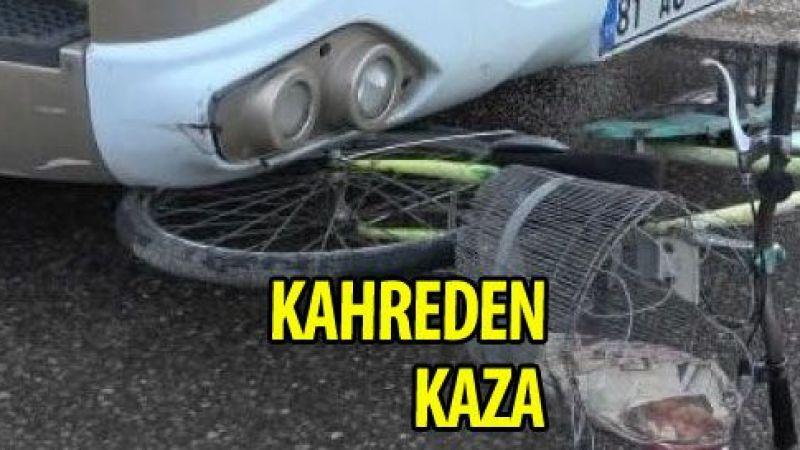 TIR'ın çarptığı bisikletli kurtarılamadı