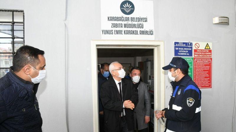 Başkan Selvitopu, saldırıya uğrayan zabıta memurlarını ziyaret etti
