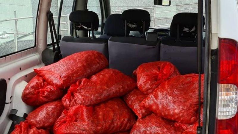 Şüpheli araçta 400 kilo canlı midye yakalandı