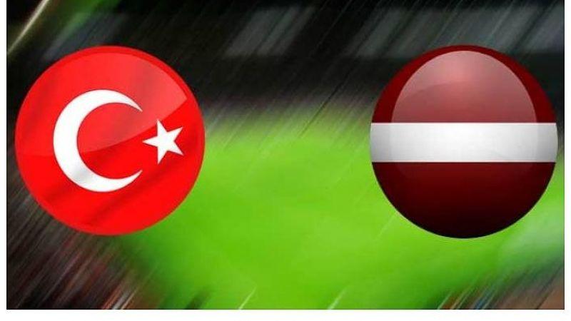 Millilerimizin Letonya maçı salı günü saat 21.45'te