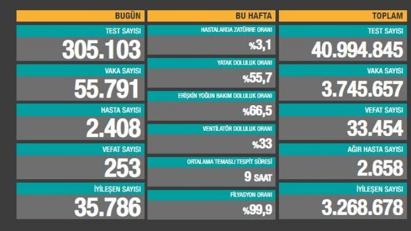 9 Nisan Raporu: 253 kişiyi daha Covid'e kurban verdik