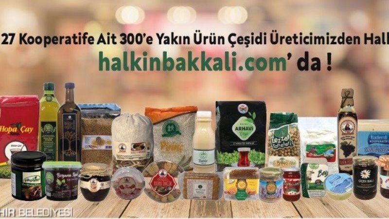Paranız İzmir'de kalsın. Halkın Bakkalı'nda online satış başladı