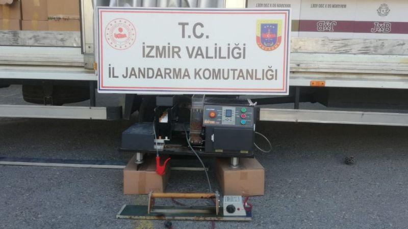 İzmir'de jandarmadan makaron operasyonu