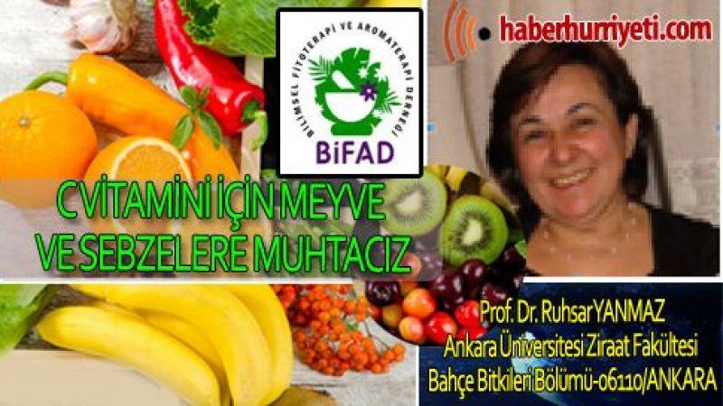 C Vitamini için meyve ve Sebzelere muhtacız