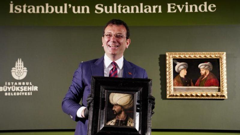 Fatih ve Kanuni portreleri İBB'de buluştu