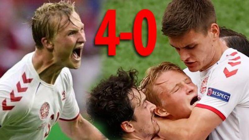 Danimarka, Galler'i farkı yenip çeyrek finale yükseldi