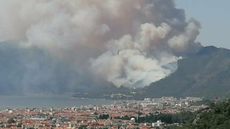 Marmaris'te orman yangını savaşçısı şehit oldu