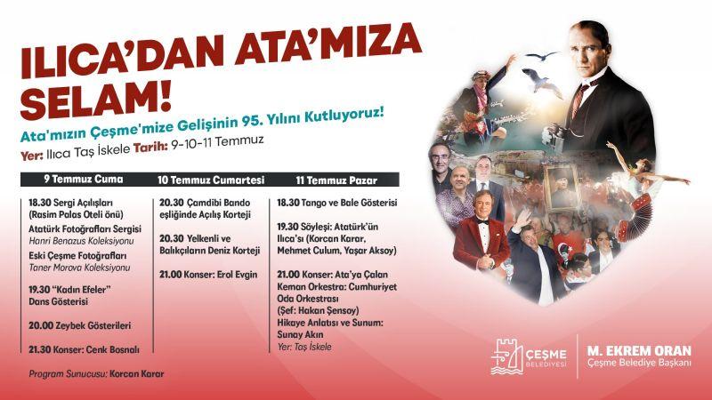 Atatürk'ün Ilıca'ya gelişinin 95. yılı için etkinlik dizisi