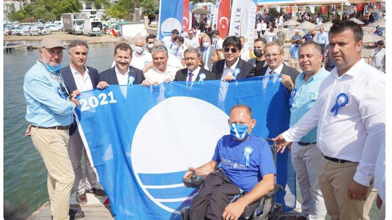 Ulusal Mavi Bayrak töreni Ayvalık'ta yapıldı