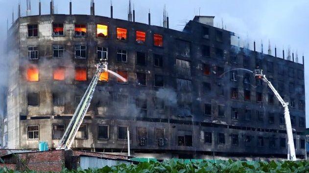 Bangladeş'te fabrika yangını: 52 ölü, 30 yaralı