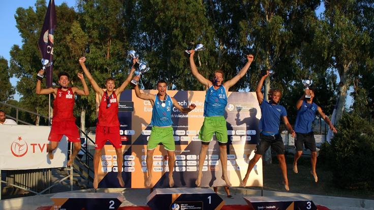 Plaj Voleybolunda şampiyonlar Rusya ve Slovenya