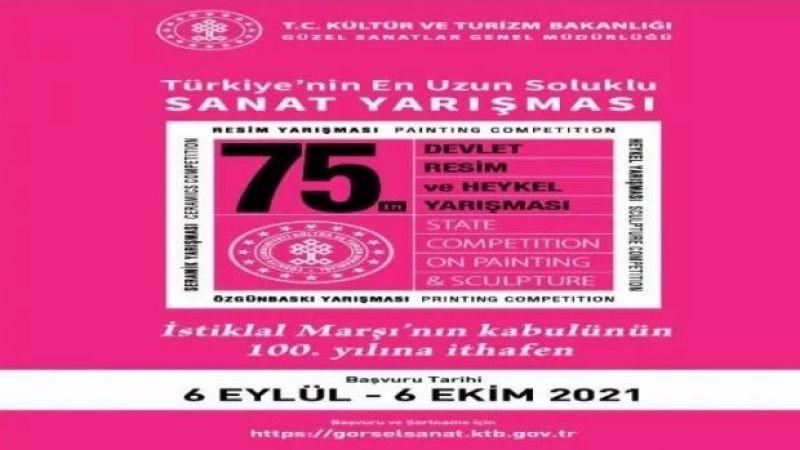 75. Devlet Resim ve Heykel Yarışması'na başvurular 6 Eylül'de başlıyor